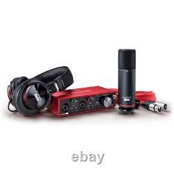 Focusrite Scarlett 2i2 USB Audio Recording Interface Studio Pack 3rd Gen