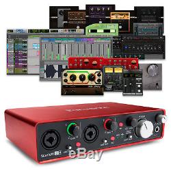 Focusrite Scarlett 2i4 (2nd Gen) USB 2.0 Audio Interface + Pro Tools & Ableton