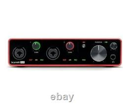 Focusrite Scarlett 4i4 Gen 3 4-in 4-out USB Audio Interface with 2 Mic Preamps