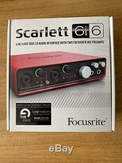 Focusrite Scarlett 6i6 USB Audio Interface (1st Gen) No Software