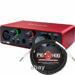 Focusrite Scarlett Solo 2x2 USB Audio Interface 3rd Gen with TRS Cable