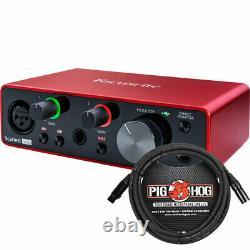 Focusrite Scarlett Solo 2x2 USB Audio Interface 3rd Gen with XLR Cable