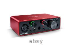 Focusrite Scarlett Solo 3rd Generation Professional 2-Ch USB Audio Interface