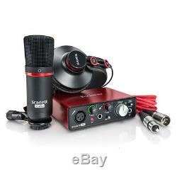 Focusrite Scarlett Solo Compact USB Audio Interface Studio Package 2nd Gen