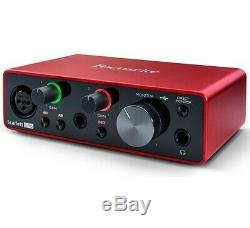 Focusrite Scarlett Solo Gen 3 2-in 2-out USB Audio Interface with 1 Mic Preamp