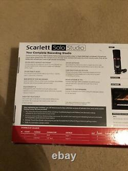 Focusrite Scarlett Solo Studio 2nd Gen USB Audio Interface Bundle