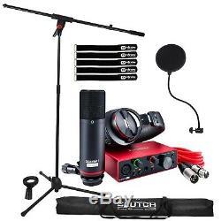 Focusrite Scarlett Solo Studio 3rd Gen USB Audio Interface Recording Bundle Pack