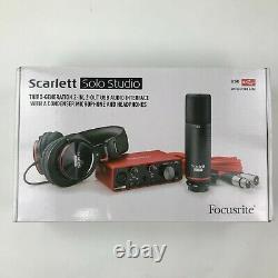 Focusrite Scarlett Solo Studio (3rd Gen)USB Audio Interface and Recording Bundle