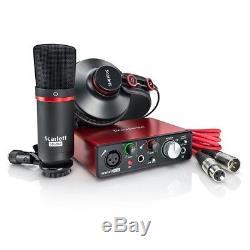 Focusrite Scarlett Solo Studio Pack USB 2.0 Audio Interface withProtools