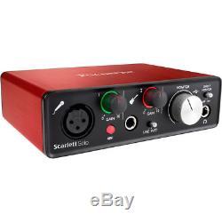 Focusrite Scarlett Solo USB Audio Interface (2nd Gen) + Mic, Headphones, & More