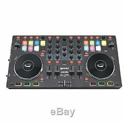 Gemini Slate 4 DJ Controller Serato 4-Kanal DJ-Controller USB-Audio-Interface