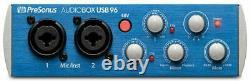 Home Recording Bundle with Presonus & Pro Tools First Mackie Audiobox 96K