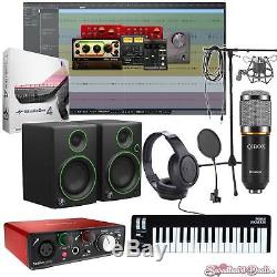Home Recording Pro Tools Studio One Bundle Package Mackie Focusrite Software