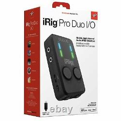 IK Multimedia iRig Pro Duo I/O 2-Channel Audio/MIDI Interface for Mobile Devices