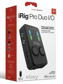 IK Multimedia iRig Pro Duo I/O 2-Channel Audio and MIDI Interface for iOS/MAC/PC
