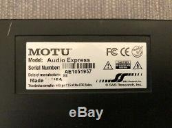 MOTU Audio Express 6x6 Hybrid Firewire/USB Interface with Power Supply