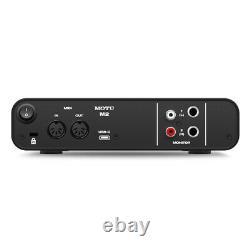 MOTU M2 Compact 2x2 USB Audio Interface