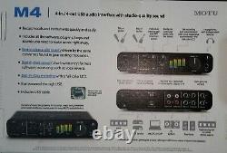 MOTU M4 Audio Interface Usb-C 4-in/4-out For Mac, Windows Ios Quality Studio