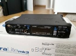 MOTU UltraLite-mk3 Hybrid Audio Interface USB2 / FireWire MIDI Boxed Manual