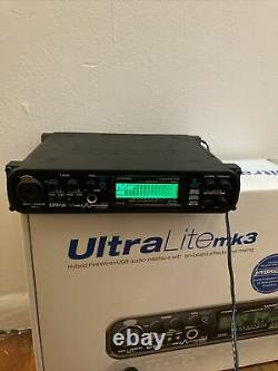 MOTU Ultralite MK3 Hybrid USB Firewire Audio Interface Tested PLEASE READ