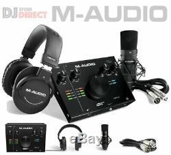M-Audio AIR 192/4 Vocal Studio Pro USB 24-bit Audio Interface + Headphones & Mic