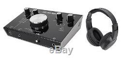 M-Audio M-Track 2X2M 24/92 USB Audio Recording Monitoring Interface + Headphones