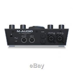 M-Audio M-Track 2X2M 24-Bit/192 kHz USB Audio/MIDI Interface NEU