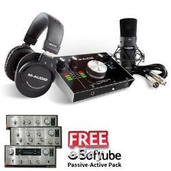M-Audio M-Track 2X2 Vocal Studio Pro Recording Studio USB Interface Inc Warranty