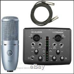M-Audio M-Track 2 Channel USB Interface + AKG Perception P120 Recording Pack