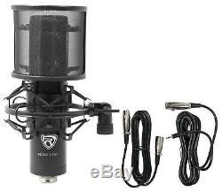 M-Audio M-Track Eight 8 USB Audio Recording Interface+Studio Mic+Pop Filter