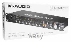 M-Audio M-Track Eight 8 USB Audio Recording Studio Rack Interface+8 Mic Preamps
