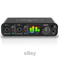 Motu M2 2x2 USB Audio Interface with Studio Quality Sound