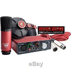 NEW! Focusrite Scarlett Solo Studio Pack (1st Gen) USB Audio Interface Software