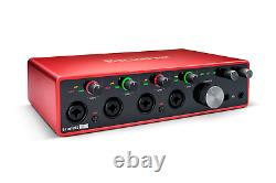 New Focusrite Scarlett 18i8 3rd Gen 18-in, 8-out USB Audio Interface + Cable Kit
