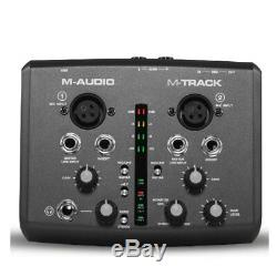 Original M-Audio M-Track Usb Audio Interface Sound Card External 2 In 2 Out 649