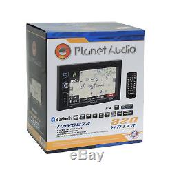 Planet Audio Radio Stereo + Dash Kit Interface Harness for 2000-up GM Chevrolet
