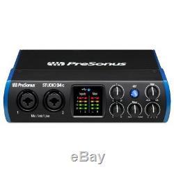 PreSonus Studio 24C Portable Home Recording USB MIDI Audio Interface + Software