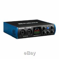 PreSonus Studio 24c 2x4 USB-C Audio Interface, 24-bit/192kHz, XMAX Class A Mic