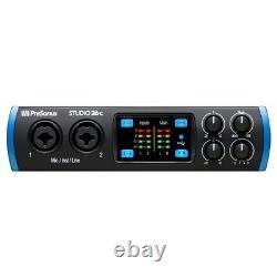 PreSonus Studio 26C Portable Home Recording USB MIDI Audio Interface + Software