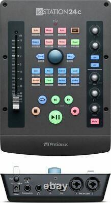 PreSonus ioStation24c 2x2 USB-C Compatible Audio Interface Production Controller
