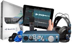 Presonus AudioBox iTwo Studio USB Audio Interface, Headphone, Mic & DAW Software