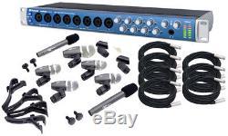 Presonus Audiobox 1818Vsl Usb 8Ch Recorder $389 Pyle 7 Mic Drum Kit & Xlr Cables