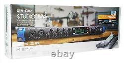 Presonus STUDIO 1824C 18x18 USB-C Audio Recording Interface with8 XMAX Mic preamps