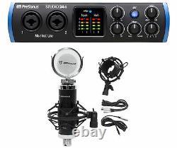 Presonus STUDIO 24C 2x2 USB-C Audio MIDI Recording Interface+Studio Microphone