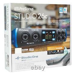 Presonus STUDIO 26C 2x4 USB-C Audio MIDI Recording Interface+Mic+Headphones