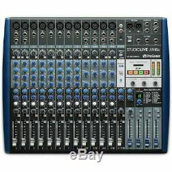 Presonus StudioLive AR16C USB C Mixer With Audio Interface & Stereo SD Recorder