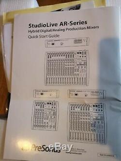Presonus StudioLive AR8 USB 8-Channel Hybrid Mixer Recording Audio Interface