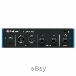 Presonus Studio 24C USB Audio MIDI Interface + Studio One Recording Software