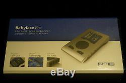 RME-Audio Babyface Pro 24-ch 192kHz bus-powered Pro USB Audio Interface
