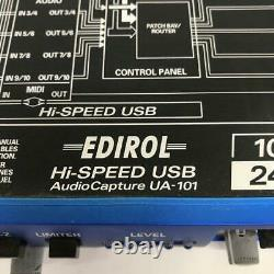 ROLAND Edirol UA-101 Hi-Speed USB Audio Interface with Adapter Used From Japan